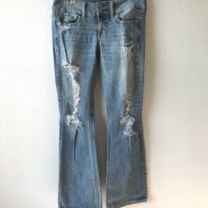American Eagle artist distressed jeans sz 0